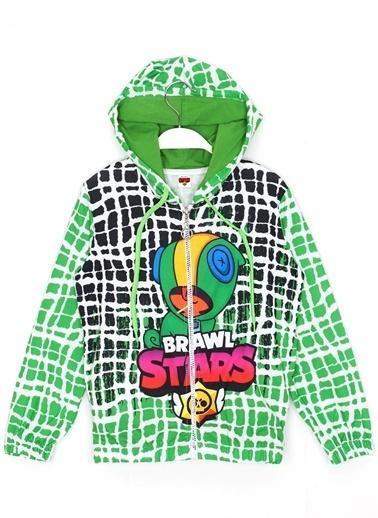 Brawl Stars Brawl Stars Leon Baskılı Erkek Çocuk Kapüşonlu Ceket 3 - 6 Yaş AralıgıYeşil Yeşil
